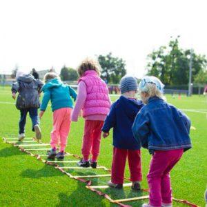 Kids on field practice